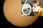 Transit of Venus across the Sun on 2002 June 08 from base of Olivers Hill, Frankston